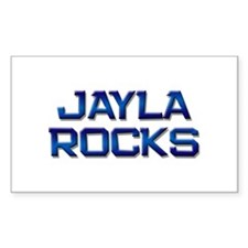 jayla rocks Rectangle Decal