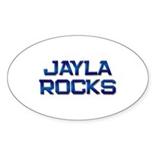jayla rocks Oval Decal