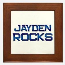 jayden rocks Framed Tile