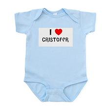 I LOVE CRISTOFER Infant Creeper