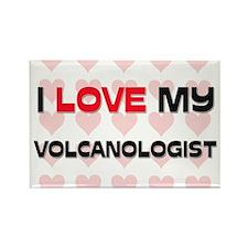 I Love My Volcanologist Rectangle Magnet