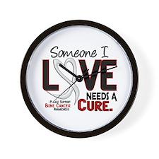 Needs A Cure 2 BONE CANCER Wall Clock