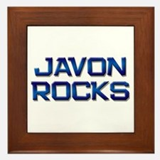 javon rocks Framed Tile