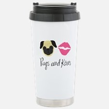 Cute Pug or pugs Travel Mug