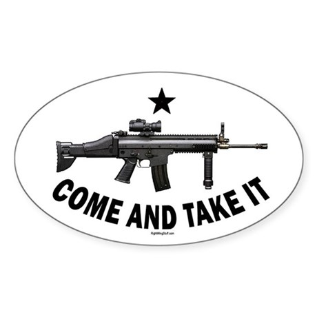 Come and Take It (2) Oval Sticker