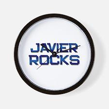 javier rocks Wall Clock
