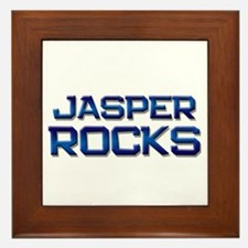jasper rocks Framed Tile