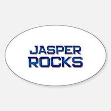 jasper rocks Oval Bumper Stickers