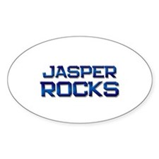 jasper rocks Oval Decal