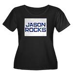 jason rocks Women's Plus Size Scoop Neck Dark T-Sh