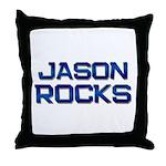 jason rocks Throw Pillow