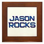 jason rocks Framed Tile