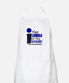 I Wear Blue For My Husband 9 CC BBQ Apron