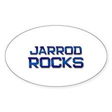 jarrod rocks Oval Decal