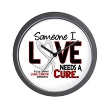 Needs A Cure 2 LUNG CANCER Wall Clock