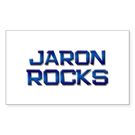 jaron rocks Rectangle Sticker