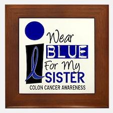 I Wear Blue For My Sister 9 CC Framed Tile