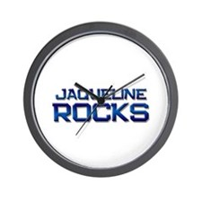 jaqueline rocks Wall Clock
