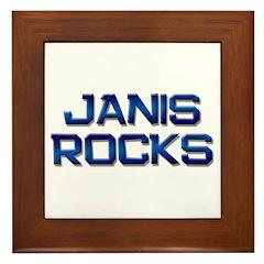 janis rocks Framed Tile