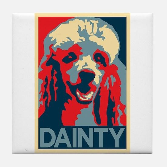 Vote Poodle! Tile Coaster
