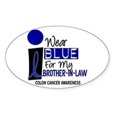 I Wear Blue For My Brother-In-Law 9 CC Decal