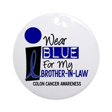 I Wear Blue For My Brother-In-Law 9 CC Ornament (R