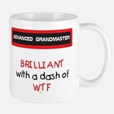 Brilliant with a dash of WTF Mug (red and Black)