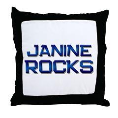 janine rocks Throw Pillow