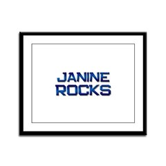 janine rocks Framed Panel Print