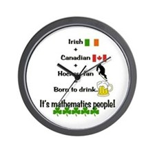 St. Patrick's Day Mathematics Wall Clock