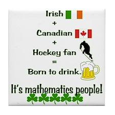 St. Patrick's Day Mathematics Tile Coaster