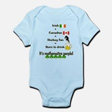 St. Patrick's Day Mathematics Infant Bodysuit