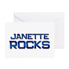 janette rocks Greeting Cards (Pk of 20)