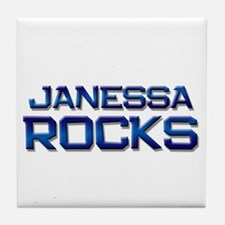 janessa rocks Tile Coaster
