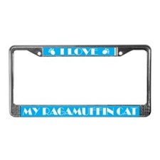 I Love My Ragamuffin Cat License Frame