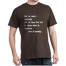 """let us never fear"" shirt"