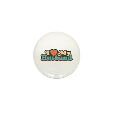 I Love My Husband Mini Button