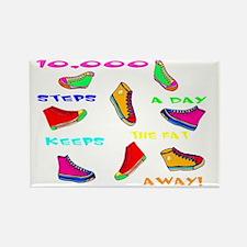 10,000 steps Rectangle Magnet
