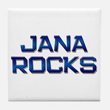 jana rocks Tile Coaster
