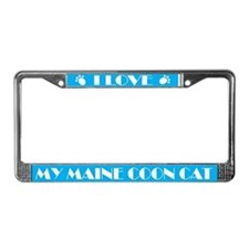 I Love My Maine Coon cat License Frame