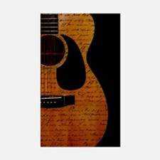 Guitarist Notes Rectangle Decal