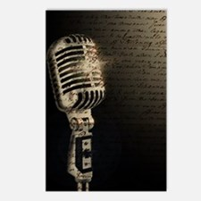 Microphone Notes Postcards (Package of 8)