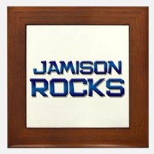 jamison rocks Framed Tile