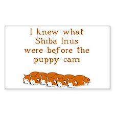 Shiba Puppy Cam Rectangle Decal