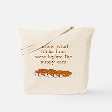 Shiba Puppy Cam Tote Bag