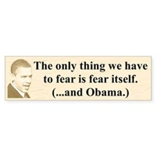 """Be Very Afraid"" Bumper Bumper Sticker"