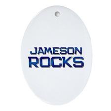 jameson rocks Oval Ornament