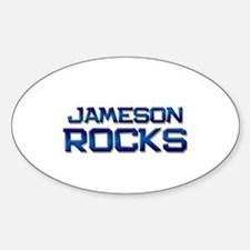 jameson rocks Oval Decal