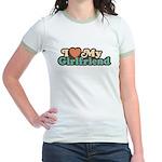 I Love My Girlfriend Jr. Ringer T-Shirt