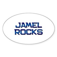jamel rocks Oval Decal